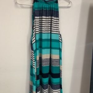 Mint and Navy Striped Dress XL